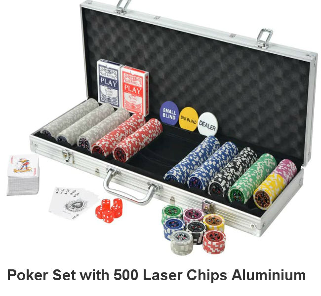500 Laser Chips Pro-Poker Set